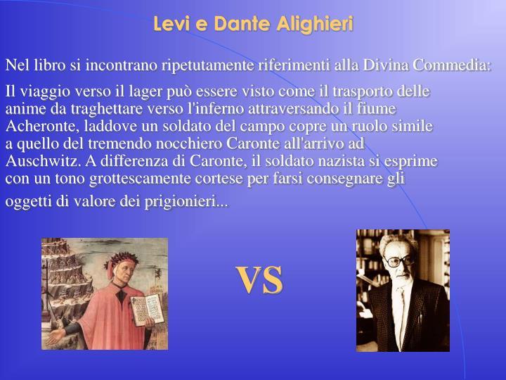Levi e Dante Alighieri