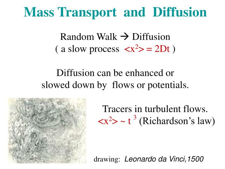Mass Transport  and  Diffusion