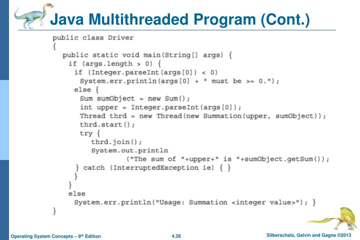Java Multithreaded Program (Cont.)