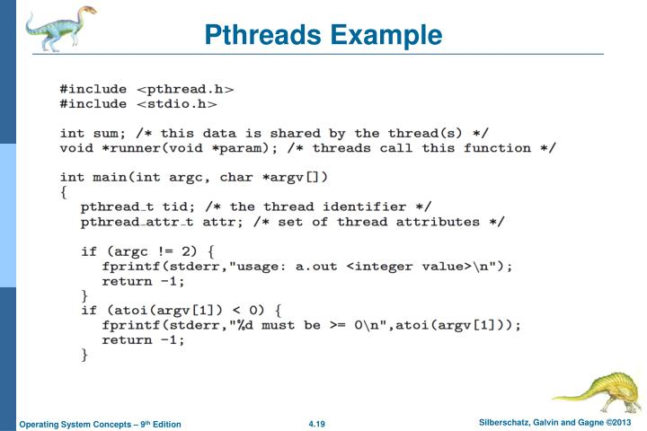 Pthreads Example