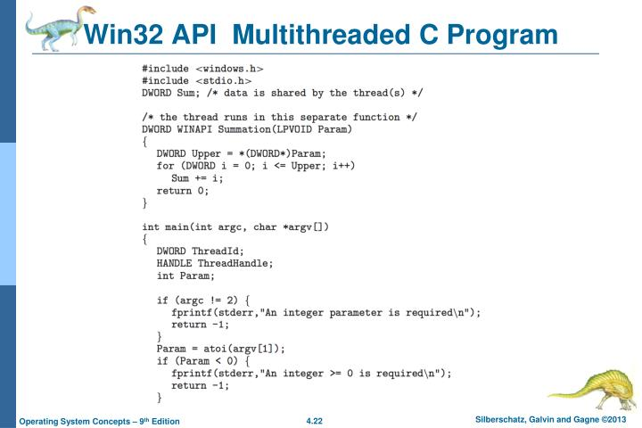 Win32 API  Multithreaded C Program