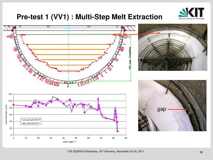 Pre-test 1 (VV1) : Multi-Step Melt Extraction