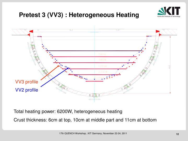 Pretest 3 (VV3) : Heterogeneous Heating