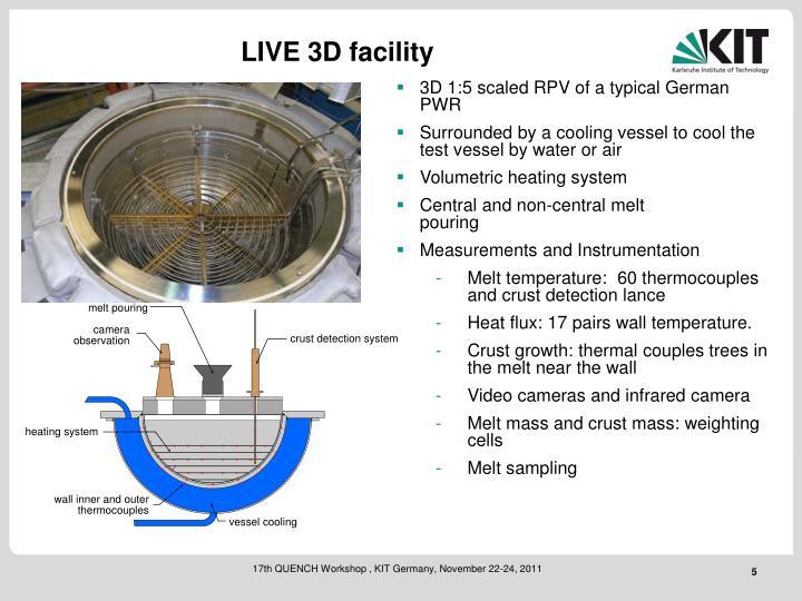 LIVE 3D facility