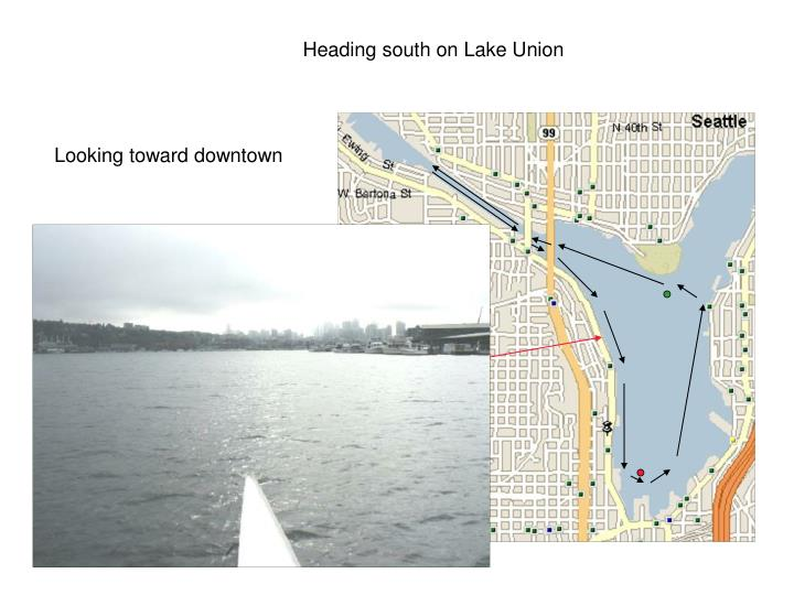 Heading south on Lake Union