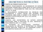 decretos e instru es