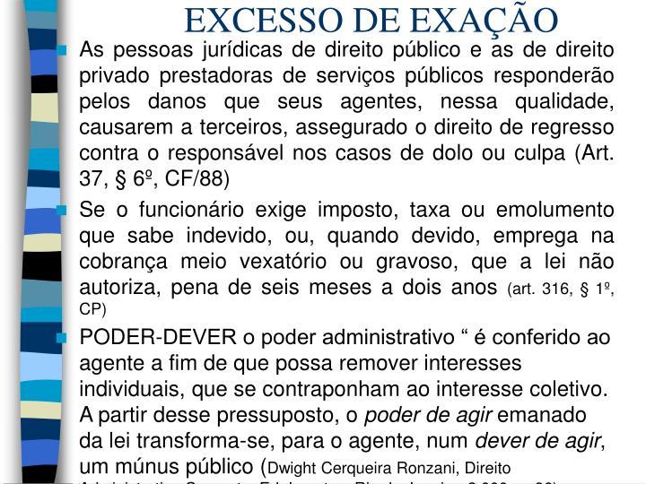 EXCESSO DE EXAÇÃO