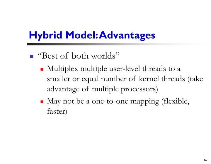 Hybrid Model: Advantages