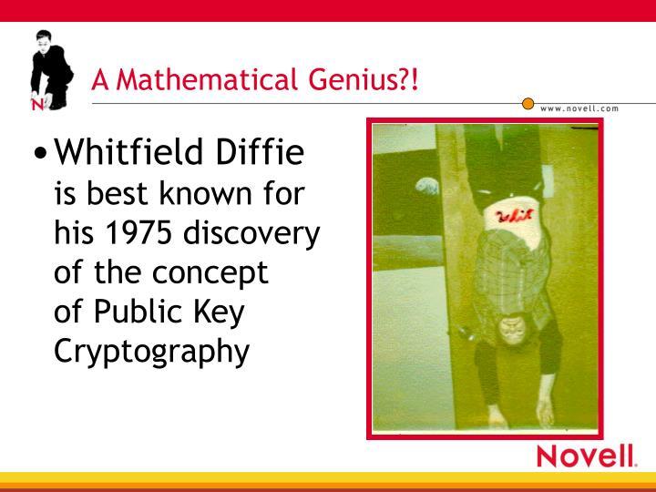 A Mathematical Genius?!