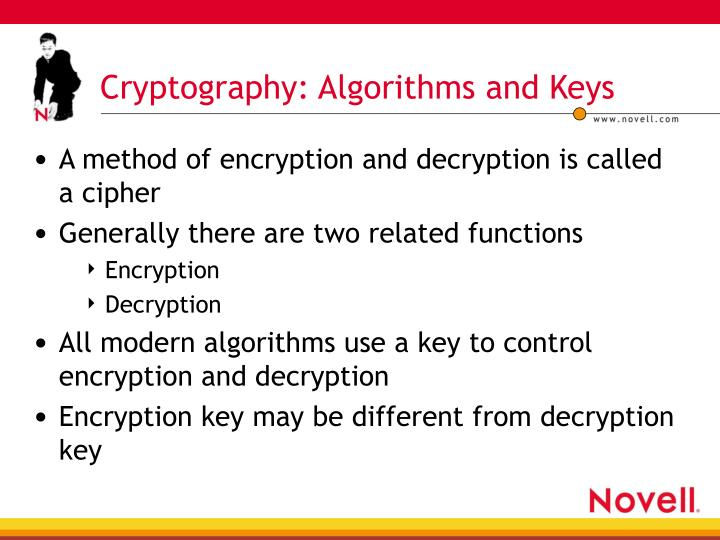 Cryptography: Algorithms and Keys