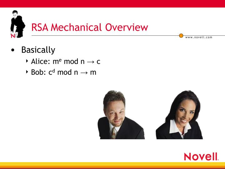 RSA Mechanical Overview