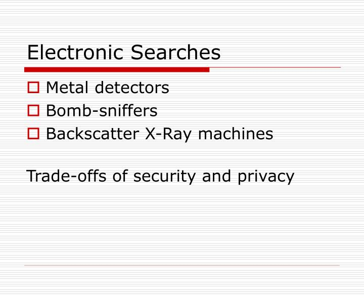 Electronic Searches