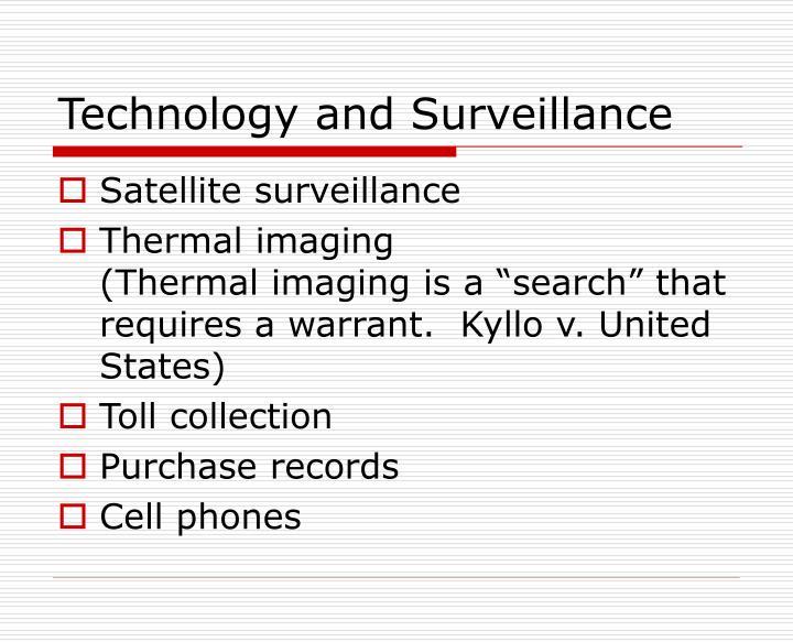 Technology and Surveillance