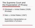 the supreme court and the expectation of privacy