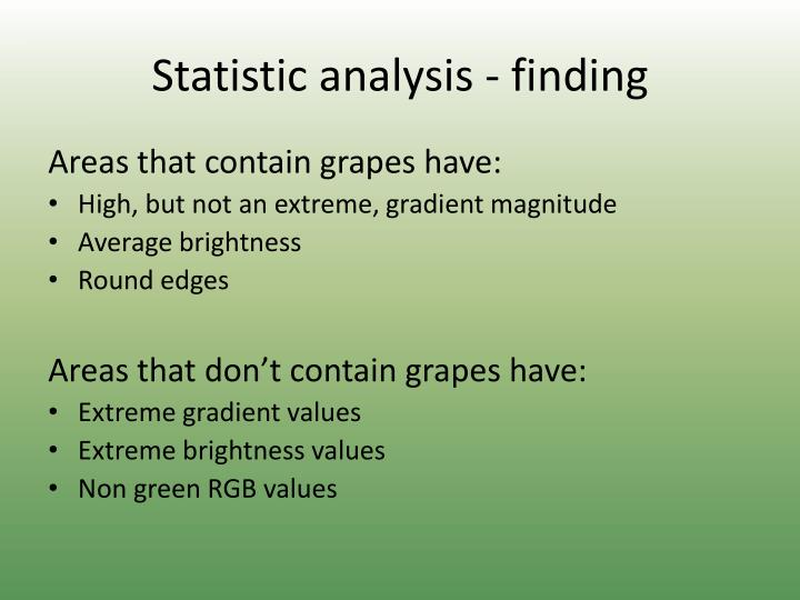 Statistic analysis - finding