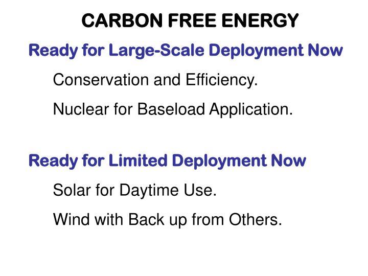 CARBON FREE ENERGY
