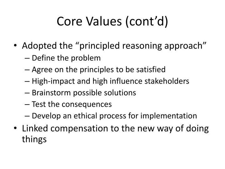 Core Values (cont'd)