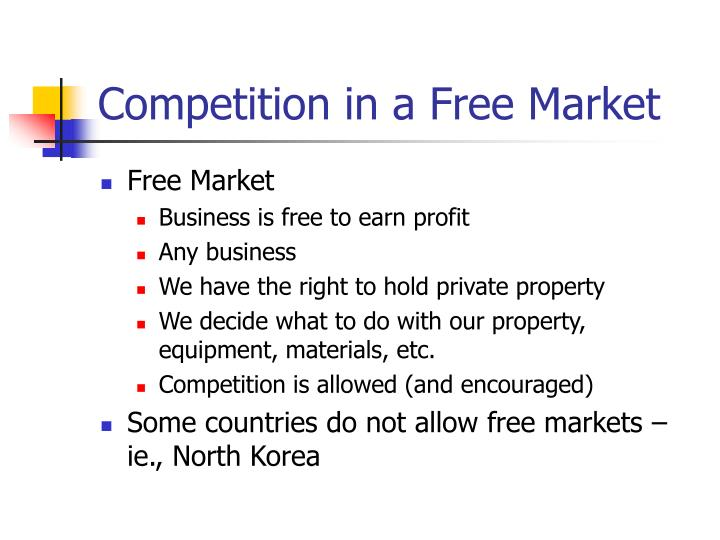 Competition in a Free Market