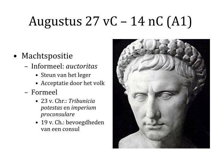 Augustus 27 vC – 14 nC (A1)