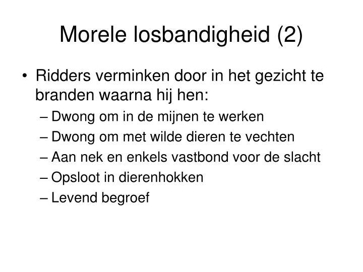 Morele losbandigheid (2)