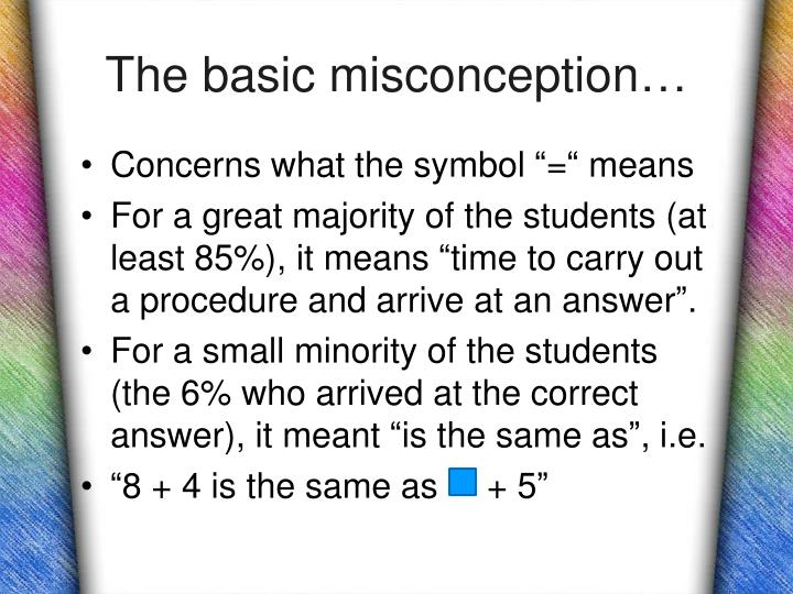 The basic misconception…