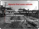 historia oral como m todo