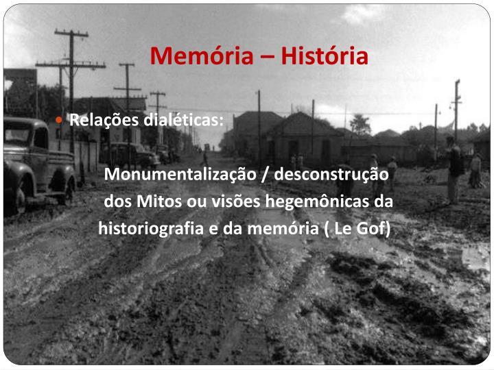 Memória – História