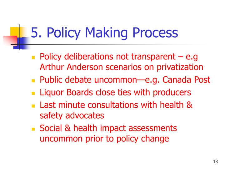5. Policy Making Process