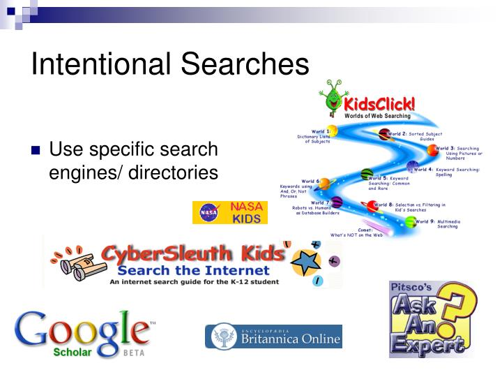 Intentional searches