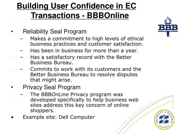 Reliability Seal Program