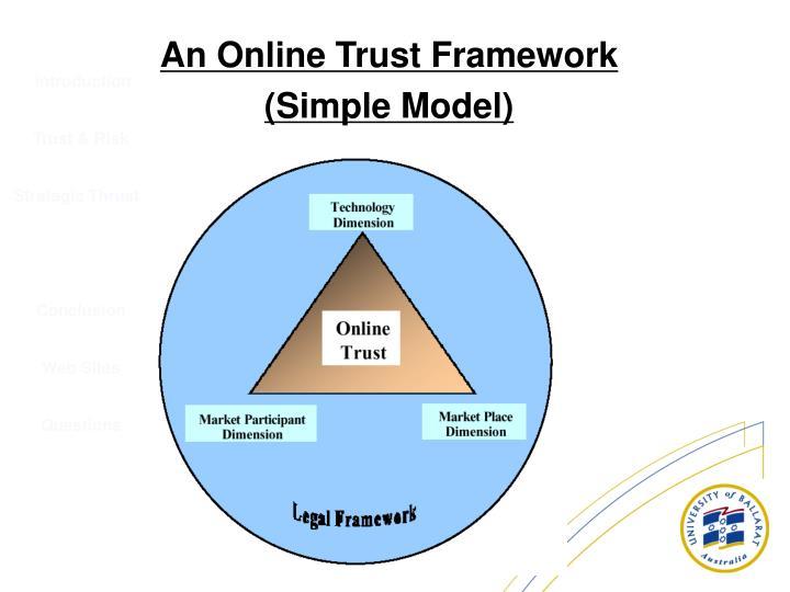 An Online Trust Framework