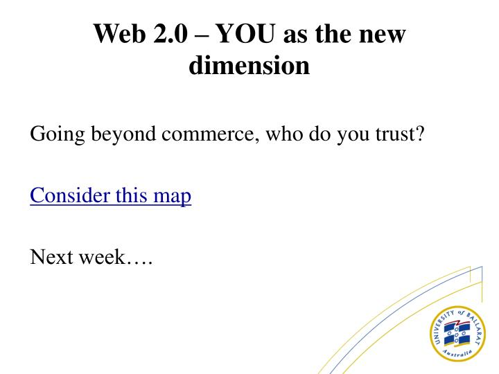 Going beyond commerce, who do you trust?