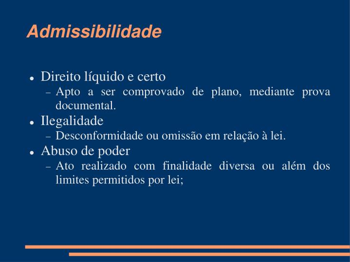 Admissibilidade