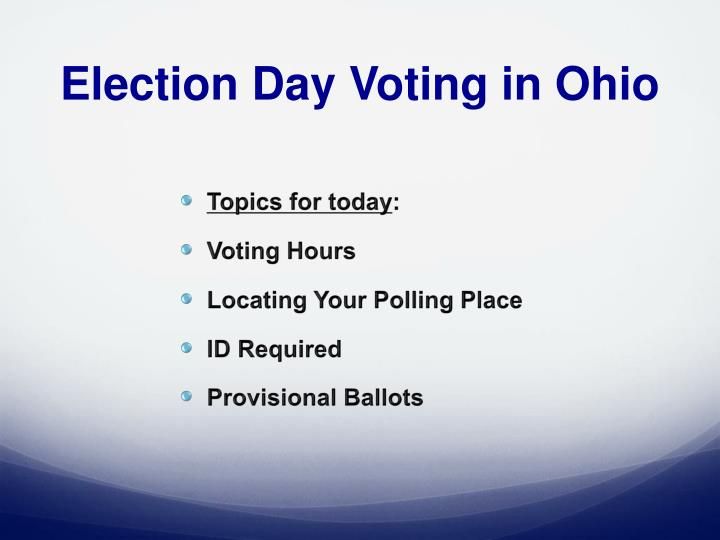 Election Day Voting in Ohio