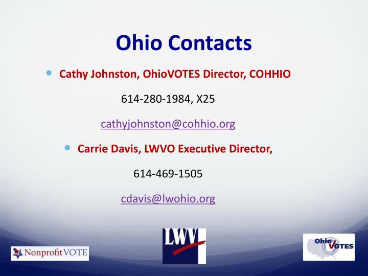 Ohio Contacts