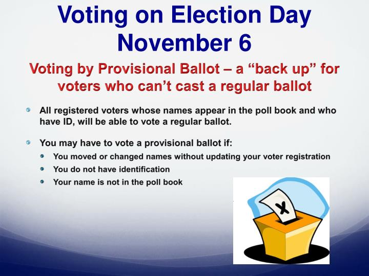 Voting on Election Day