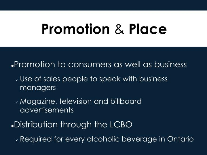 Promotion to consumers as well as business