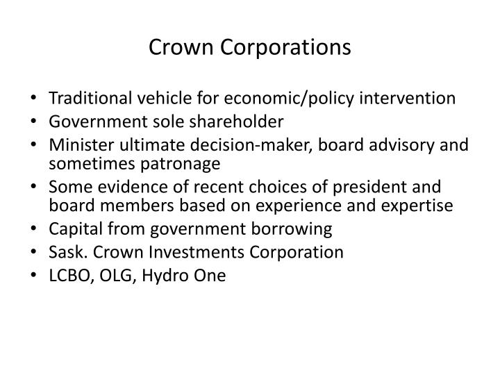 Crown Corporations