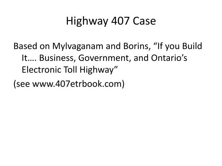 Highway 407 Case