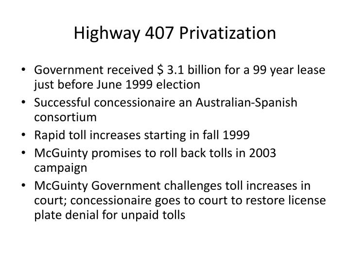 Highway 407 Privatization