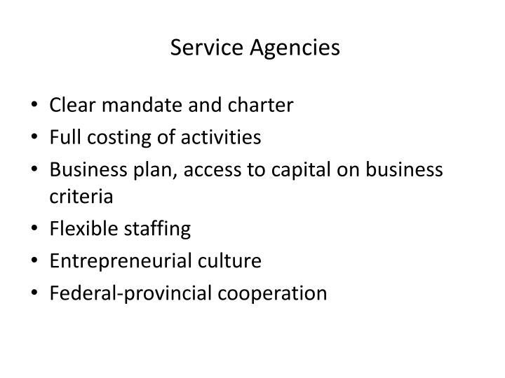 Service Agencies