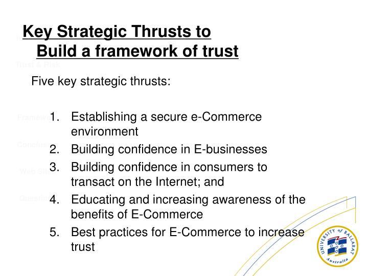 Five key strategic thrusts: