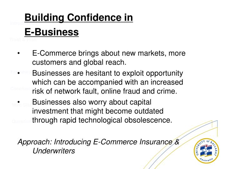 E-Commerce brings about new markets, more customers and global reach.