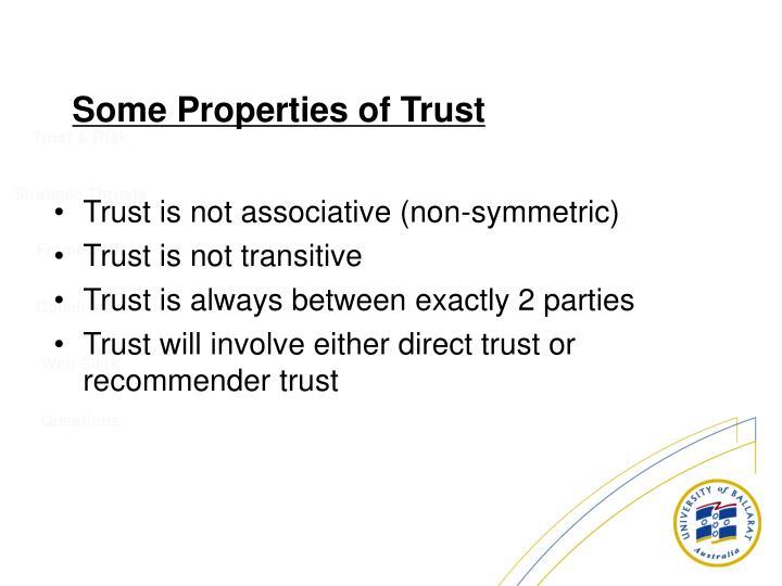 Trust is not associative (non-symmetric)