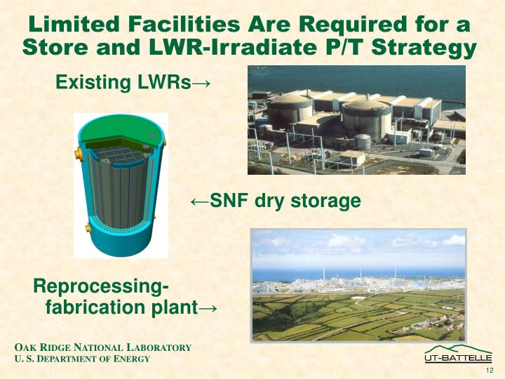 Limited Facilities Are Required for a Store and LWR-Irradiate P/T Strategy