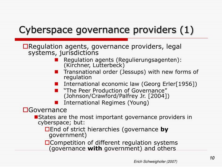 Cyberspace governance providers (1)