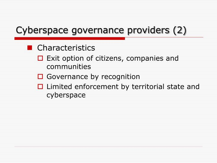 Cyberspace governance providers (2)