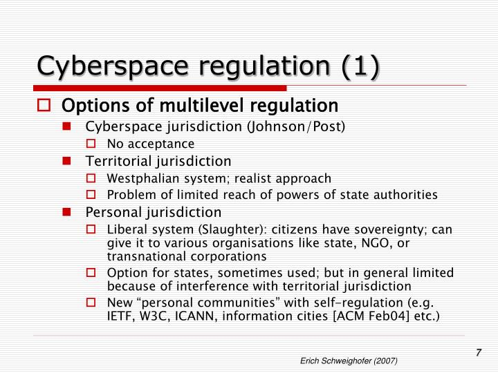 Cyberspace regulation (1)