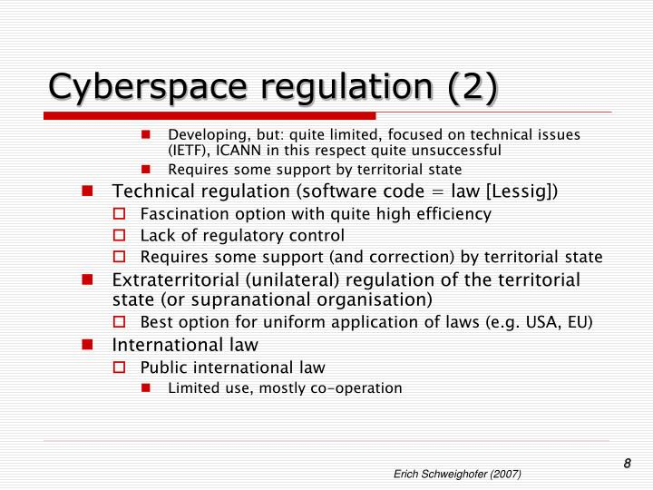 Cyberspace regulation (2)