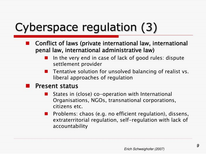 Cyberspace regulation (3)
